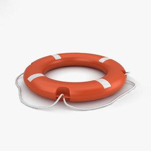3D model lifebuoy buoy life