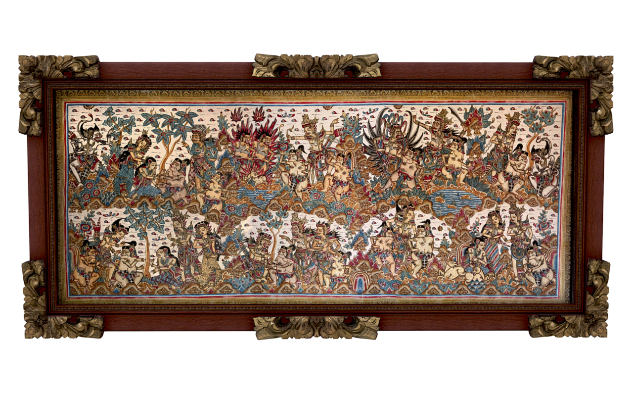 balinese picture green frame 3D
