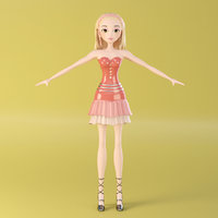 fashion girl 3D model
