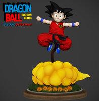 Son Goku Zbrush Dragon Ball 3D Figure 3D model