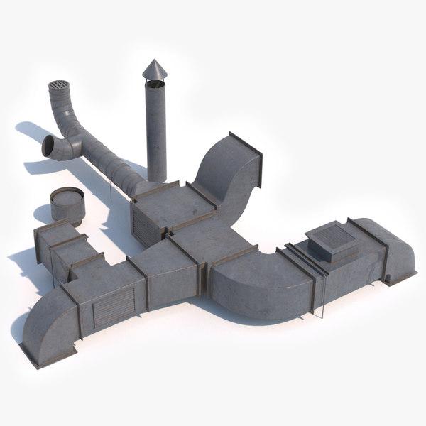 air duct 3D model