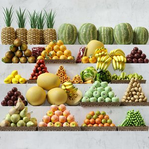 fruits apple 3D model