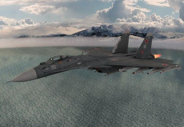 3D model f14 fighter jet