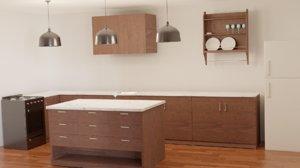 3D furniture kitchens model