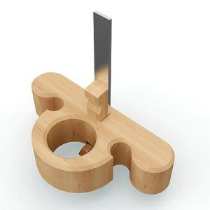 3d model hand plane kocour