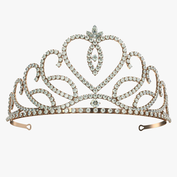 golden tiara 3D model