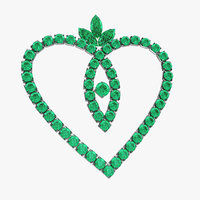 3D green emerald crystal jewelry