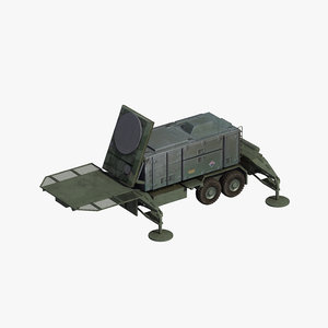 mpq-53 radar patriot missile 3D model