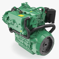 Marine Diesel Engine 3D Model