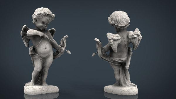 3D cupid statue
