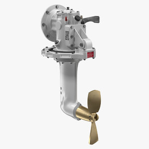 saildrive marine engine 3D model