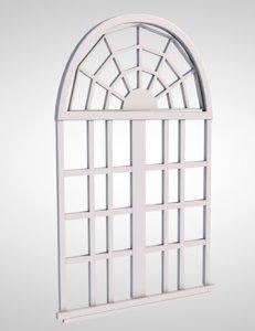 3D window sash frame