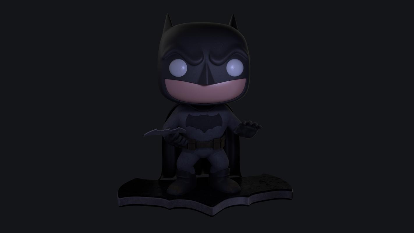 3D funko batman