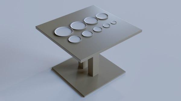 white dessert plate presentation 3D model