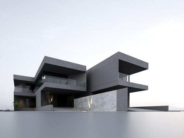 3D model building villa