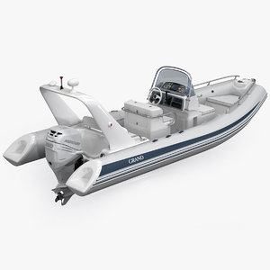 inflatable boat grand silver 3d max