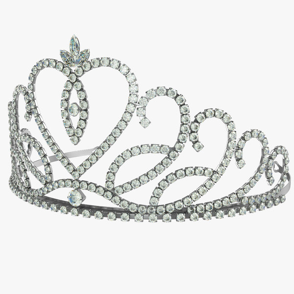 crystal tiara 3D model