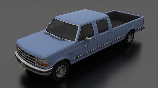 f-350 pickup 1992 3D model