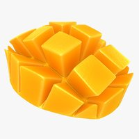 realistic mango slice 3D