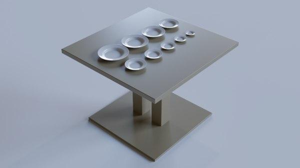 white deep plate presentation 3D model