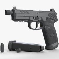 fn fnx-45 tactical untextured 3D model