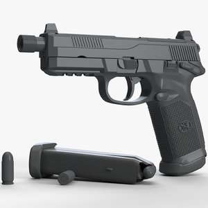 fn fnx-45 tactical untextured 3D model