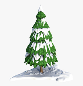 3D snow fir cartoon