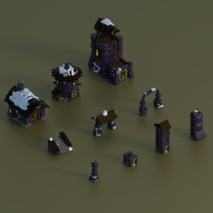 3D set buildings games