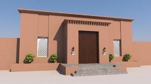 3D traditional moroccan door marrakech model