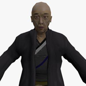 japanese kimono 3D model