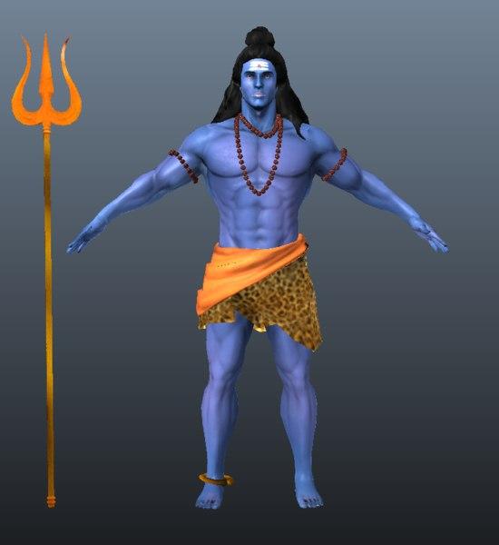 3D lord shiva model
