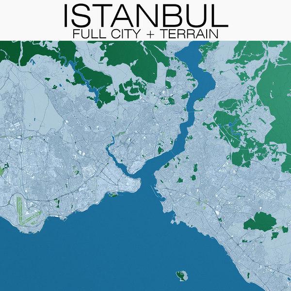 3D istanbul city terrain
