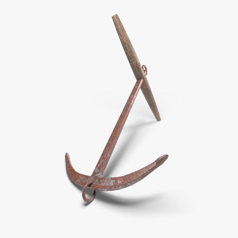 3D anchor viking ships