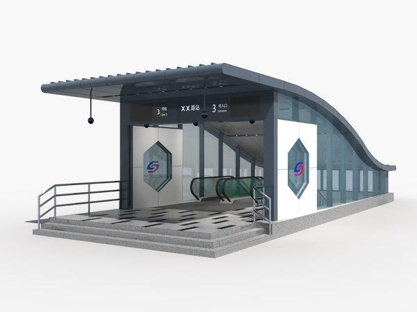 subway entrance 1 3D model
