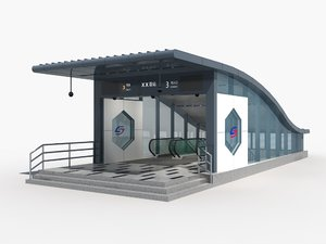 subway entrance 1 3D model