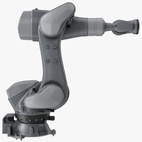 rigged robotic arm 5 3D