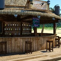 Beach Bar Round Scene