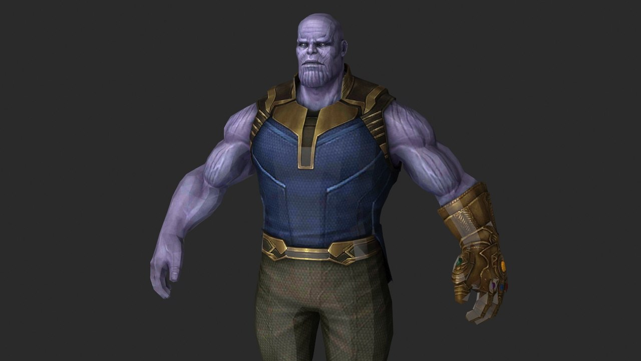 thanos avengers infinity 3D