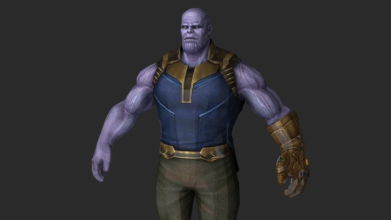 thanos avengers infinity 3D