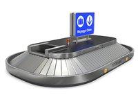 3D model airport claim transport
