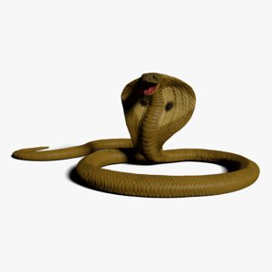 king cobra rigged 3D model