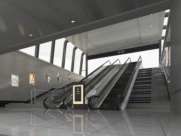 subway entrance 2 model