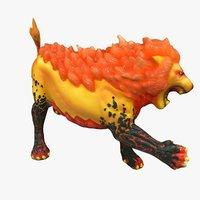 3D cleaned lion sculpture