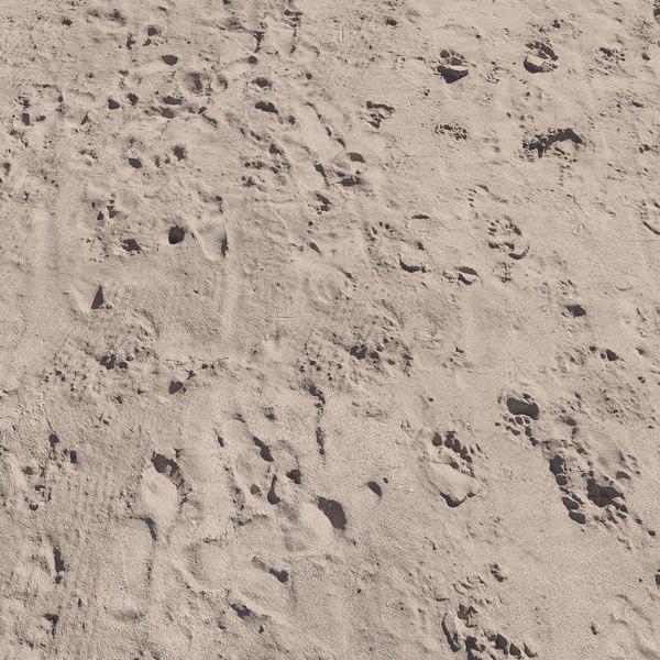 3D ultra realistic beach sand model