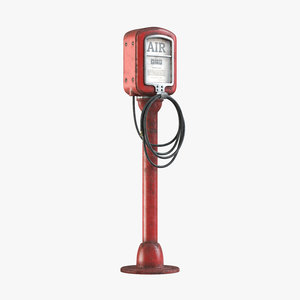 3D model vintage air pump