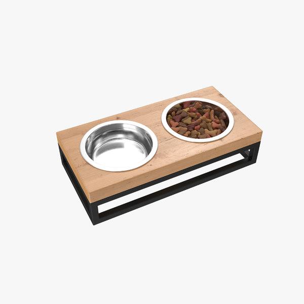 3D model pet bowl