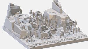 isometric style grey big 3D