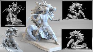 dragon bruce lee 3D