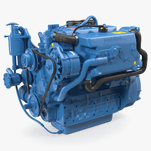 nanni diesel 4 cylinder 3D