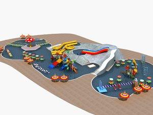 3D water park 2 model